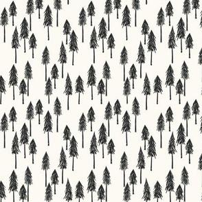 Forest Hill - Black Xmas Trees Small - Hufton Studio
