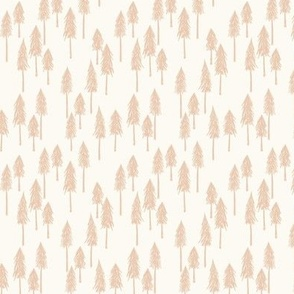 Forrest Hill - Light Baby Pink Xmas Trees Small - Hufton Studio