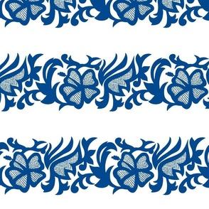 Navy Blue Pollera Print