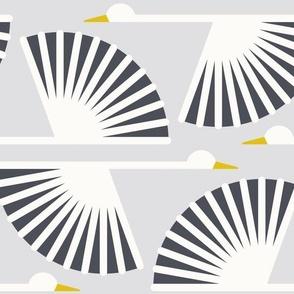 Geometric Cranes - Sweet Gray