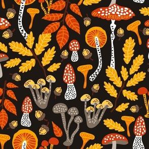 Autumn Mushroom Forest