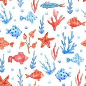 Fish Seaweeds Pattern