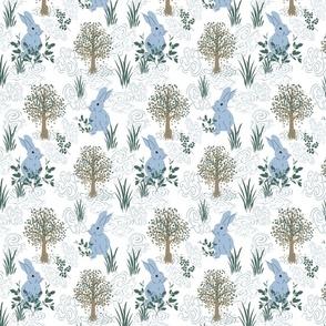 petal solids calm forest bunnies
