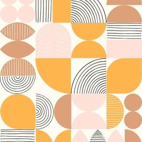 Modern Art Geometric Shapes Earth Tone Colors