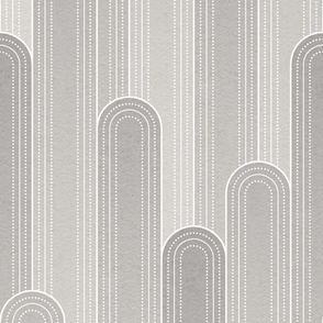 Art Deco Rounded Columns -grey-large scale