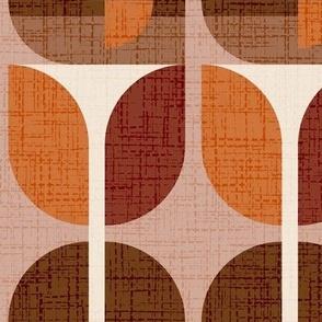 Geometric retro flower / Jumbo scale / Wallpaper