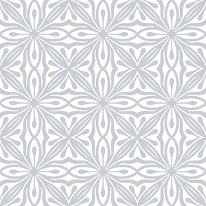Neutral grey ornament on a white