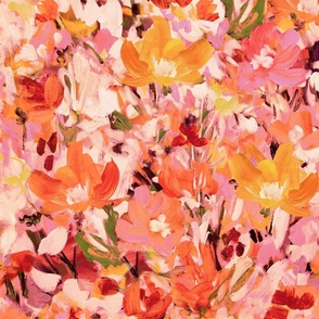 Fall Floral Abstract