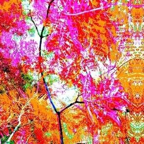 Bright Autumn Fantasy Forest Foliage - Large Scale