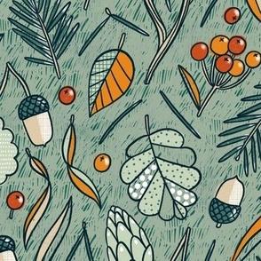 Autumn forest beneath my feet