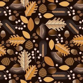 geometric autumn botanical - large