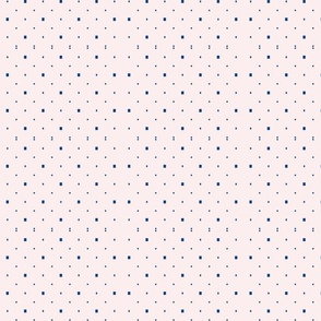 'Simply pink and blue dots