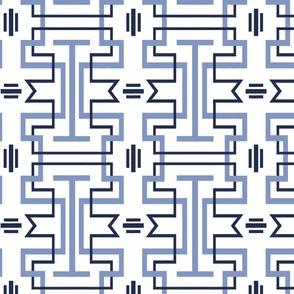 Chinoiserie Tessellation White Background