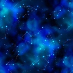 6 inch Cosmic Galaxy print with Constellations 4_3v-1