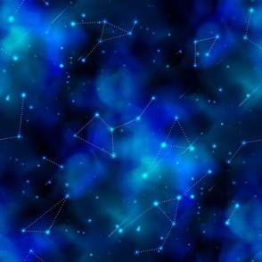 12 inch Cosmic Galaxy print with Constellations 4_3v-1