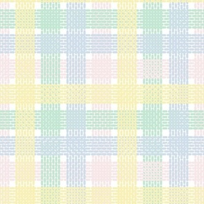 Pastel Knitted Plaid