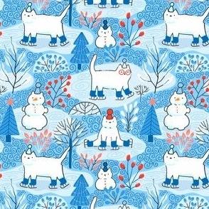 Cute winter cats.