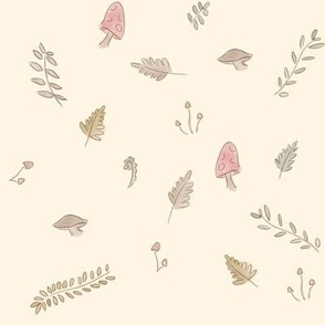 Watercolor Autumn Forest Scatter