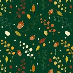 Autumn botanicals green