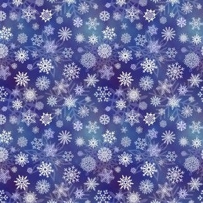 Snowflakes 1 on blue - 3in pattern