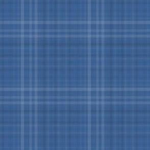 Shades of blue plaid