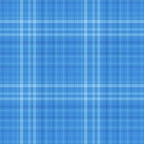 Shades of bright blue plaid