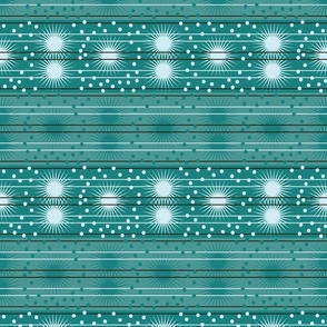Starburst Stripes -Fresh Mint (large scale)