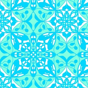 mint white turquoise abstract