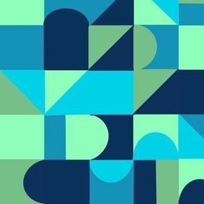 Blocks and Shapes Cerulean