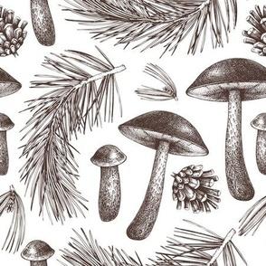 birch bolete pattern