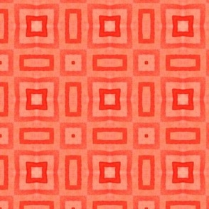Layered Red Squares