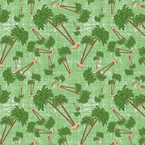 Palm Trees Christmasin Green