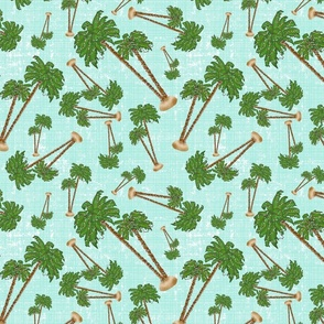 Palm Trees Christmasin Blue
