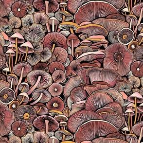 Pink Mushrooms - small