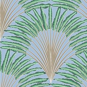 traveler palm - sky blue, mushroom, pine