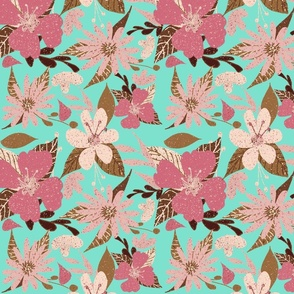 Tropical Floral Print in Pink