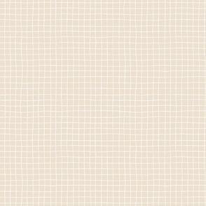 Minimalistic basic grid on cream