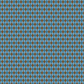 Blue and Brown Small Scale Argyle