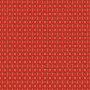 Russet Red Argyle Small Scale