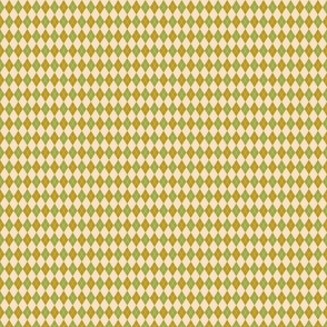 Yellow and Green Argyle Small Scale