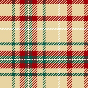 Holiday Fall Plaid Red beige