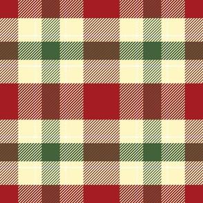 christmas plaid green red vintage