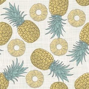 Pineapple fruity boho pattern