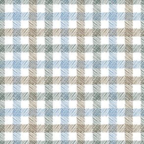 Painted Plaid - Calm - Itsy Bitsy Scale