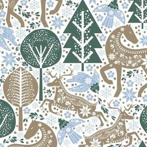 Calming Forest Scandinavian Folk Art