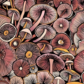 Pink mushrooms - large