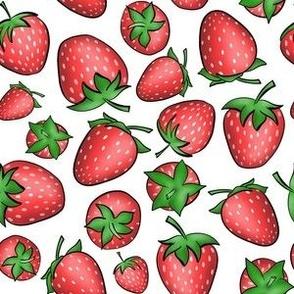 Strawberries Ditsy Pattern