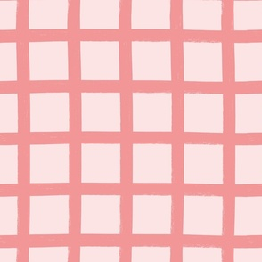 Giant gingham (pink)