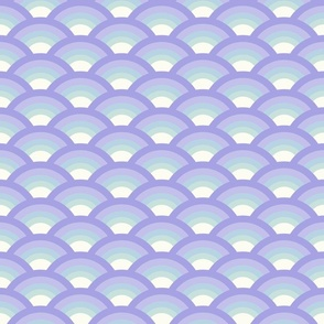 Vintage waves lilac blue by Jac Slade