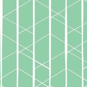 Diamond geo jade green rev by Jac Slade
